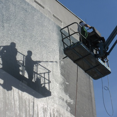 Čištění fasád a střech